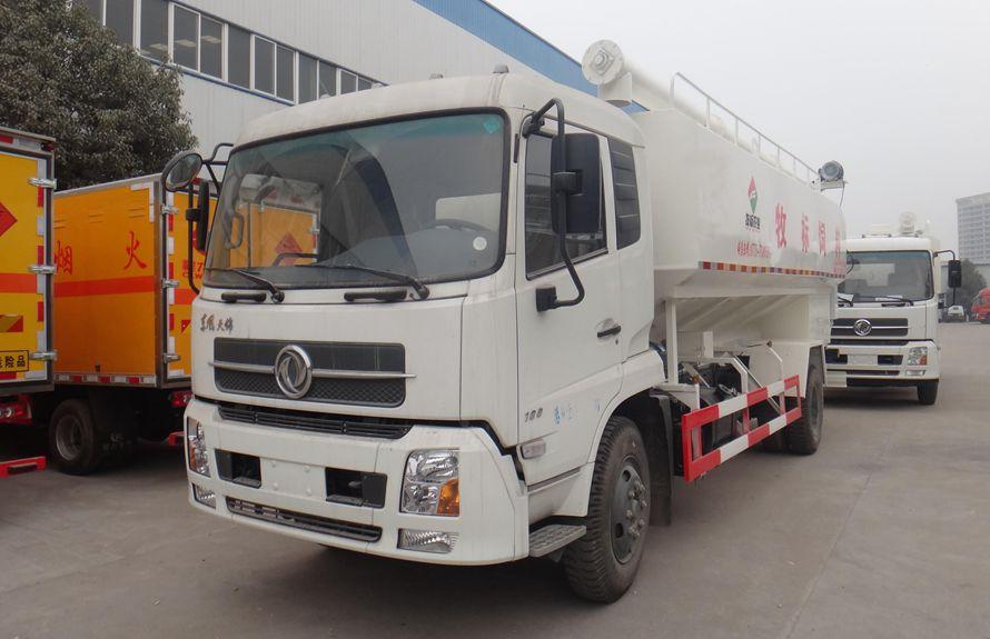 天锦10吨散装饲料运输车